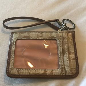 Small Coach Credit Card and Money Holder